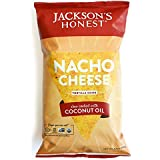 Jackson's Honest Tortilla Chips - Nacho Cheese - Made with Organic Coconut Oil, Non GMO, 5.5 oz. (12 Pack)