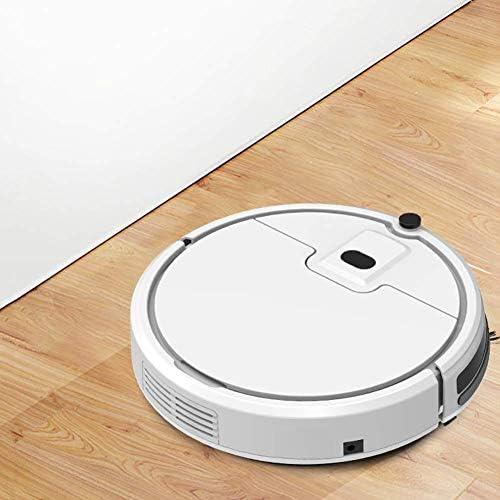 Hsatos Aspirateur Robot, Robot De Balayage Automatique Intelligent, Aspirateur à Grande Aspiration, Balayeuse Domestique Intégrée, Adapté Aux Couvertures, Planches en Bois, Marbre