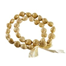 Barbra Collection Hawaiian Lei Necklace of Kukui Nuts (Blonde)