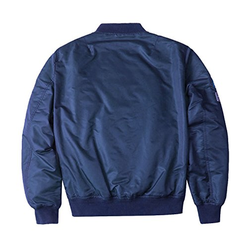 dfa074faf Neo-wows Men's blue MA-1 Slim Fit Bomber Flight Jacket with - Import ...
