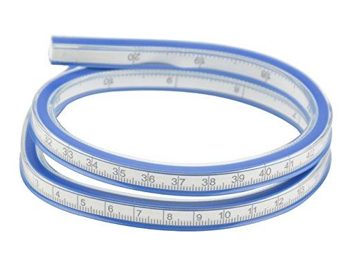TOVOT 20 Inch (50cm) Flexible Curve Ruler Flex Design Rule Design Rule Measure Tool,deal for Use: Engineering Drawing, Design Graphics, Garment Design