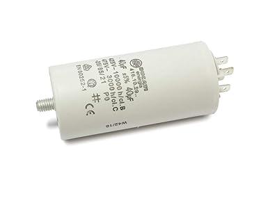25 uF/±5/%//475V+GRD 40 x 92 mm Condensador de motor DUCATI