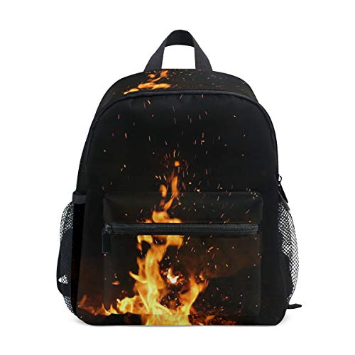 MUOOUM Unique Blaze Fire Kids Backpack Pre-School Toddler Bag Travel -
