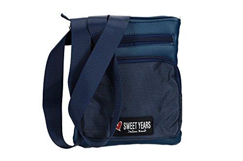 Umgehängt herren SWEET YEARS blau bandolier Taschen Kleine platt VF405