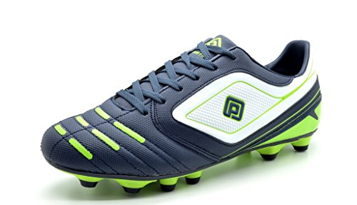 Dream Pairs 151028 Men's Sport Flexible Athletic Free Running Light Weight Indoor/Outdoor Lace Up Soccer Shoes NAVY-WHT-N.GREEN SIZE 7