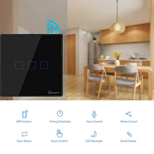 Bigmai SONOFF The WiFi smart switches with 3C-TX gangs are divided into T3