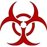ProSticker 1276 (One) 10.1cm Zombie Series Red Bio Hazard Decal Sticker