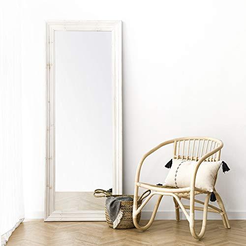 Kenay Home - Espejo de Pie Rectangular Gaus Blanco Decapado