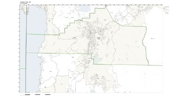 Amazon.com: ZIP Code Wall Map of Carson City, NV ZIP Code Map ...