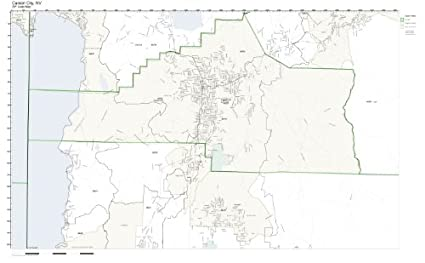 Amazon.com: ZIP Code Wall Map of Carson City, NV ZIP Code Map Not ...