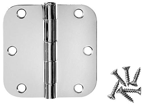12 Pack - Cosmas Polished Chrome Door Hinge 3.5