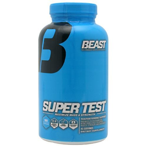 Beast Sports Nutrition SuperTest Professional Strength Complex -- 180 Capsules (Quantity of 1) by Beast Sports Nutrition
