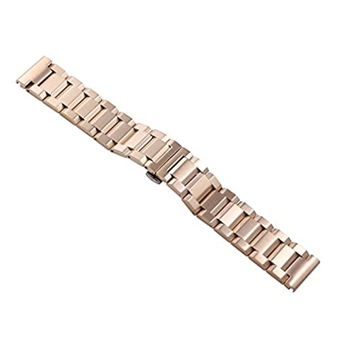 24mm Men's Premium Rose Gold Large Wide Metal Watch Bands Replacements Heavy Type Oyster Style (Rolex In Acciaio Inossidabile Oyster)