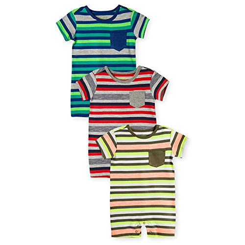 Colorful Clothes - OFFCORSS Newborn Baby Boy Cotton Romper Organic Stripes Summer Clothing Colorful Outfit Pajamas 1 Year Ropa de Vestir Bebe Niño Varon 3PACK 0/3 M