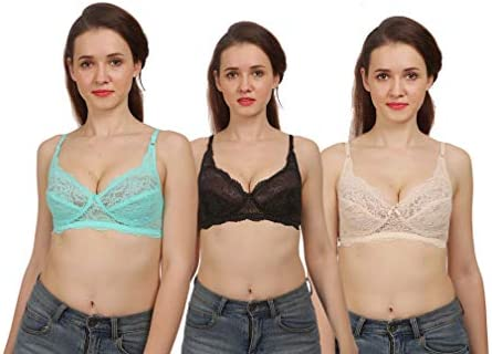 98de38862661 Fashion Comfortz Women's Girls Net Lace Lycra Spandex (4WAY) Bra for women|  Bra for Women for beach| Lingerie for Women| Sexy Lingerie for honeymoon ...