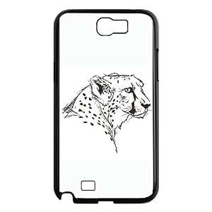 Samsung Galaxy N2 7100 Phone Case Covers Black The Cheetah EGQ Pretty Cell Phone Cases