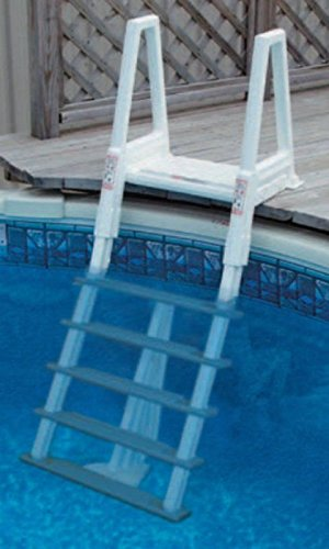 Confer Heavy Duty Above Ground Swimming Pool Ladder 42 56 Inches Gray 6000b Home Garden Spa