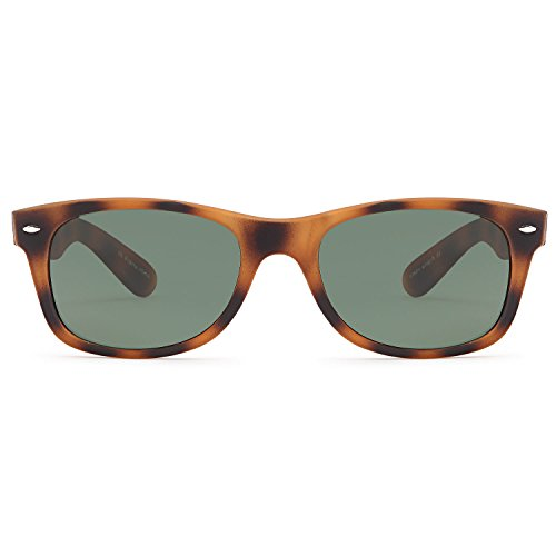 GAMMA RAY CHEATERS Best Value Polarized UV400 Wayfarer Style Sunglasses with Mirror Lens and Multi Pack Options Adult - Olive Lens on Tortoise Frame