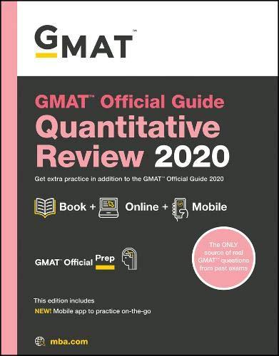 Pdf Test Preparation GMAT Official Guide 2020 Quantitative Review: Book + Online