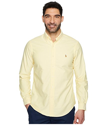 Ralph Lauren Polo Men's Striped Oxford Shirt (Small, Yellow) ()