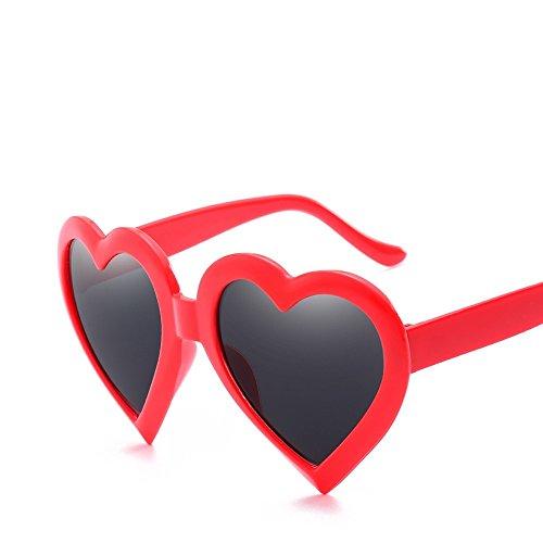 Sobredimensionado red De Gafas Parte Rojo De TIANLIANG04 Rosado Sol Barata Mujeres Color De Hembra De Uv400 Blanco Corazón Caramelo Sol Gafas Con Forma De Rojo PpSwFq8