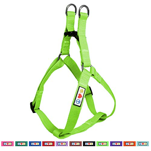 Pawtitas Solid Color Step in Dog Harness or Vest Harness Dog Training Walking of Your Puppy Harness Small Dog Harness Green Dog Harness