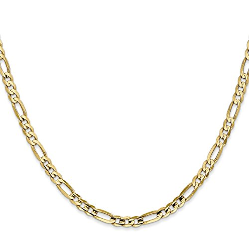 14k Gold 3.7mm Concave Open Figaro Chain 16