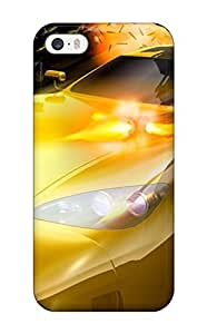 Hot Design Premium EmKZXov6919hlsgp Tpu Case Cover Iphone 5/5s Protection Case(yellow Car With Machine Guns)