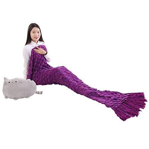 Mermaid Blanket Adult size, Crochet Snuggle Sleeping Bag ...