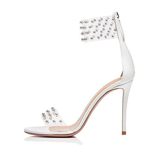 Sandales Soirée PVC Transgenre 3888 Mariage White 42 Sexy Femme De Club Haut Grande Mode Fête TLJ KJJDE De Talon Plateforme Rivet Taille nTgwP8qnx5
