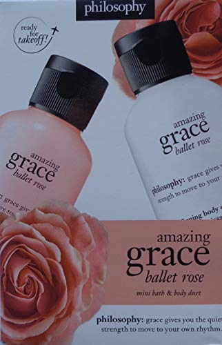 philosophy amazing grace ballet rose mini bath & body duet -