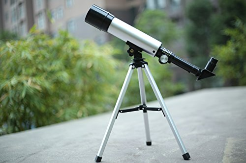 AZLife Portable Astronomical Refractor Telescope, 360X50mm Advanced Beginner Children Toy Educational Astronomy Science Tabletop Telescope Monoculars with Tripod Set