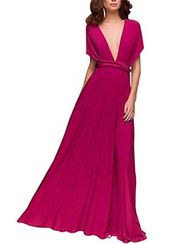 Rose Soirée Portefeuille Longue De Elegante 1 Satin Maxi Multi Party Robe Cocktail porter CWdBerxo