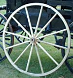 Decorative – Wood Wagon Wheel – 48 Inch x 2 Inch Steam Bent Hickory Wagon Wheel with wooden hub For Sale