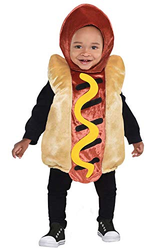 Baby And Dog Halloween Costumes (Toddler Mini Hot Dog Costume(12-24)