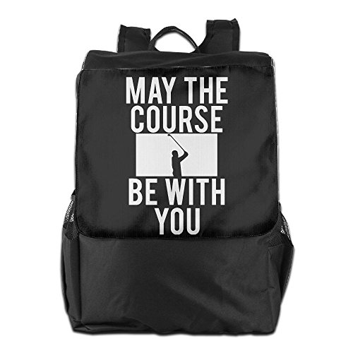 Zhongraninc May The Course Be With You Golf Fashion Outdoor Men And Women Travel Backpack Travel Knapsack