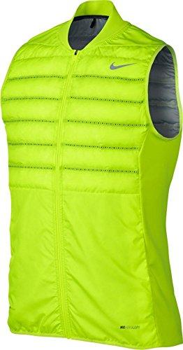 Nike Mens Knit Vest - Nike Men's Golf Aeroloft Vest (Volt, Small)