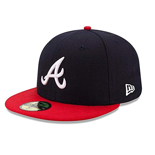 New Era 59FIFTY Atlanta Braves Navy/Red MLB 2017 Authentic Collection On Field Home Cap Size 7 1/2