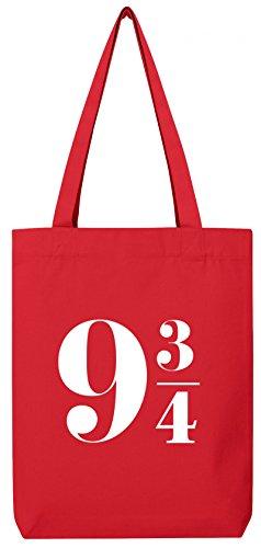 ShirtStreet Premium Bio Baumwoll Tote Bag Jutebeutel Stanley Stella Harry 9 3/4 Red