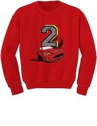 TeeStars - 2nd Birthday Race Car Party 2 Year Old Boy Toddler/Kids Sweatshirt