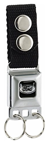 Seat Belt Buckle Emblem (Buckle-Down Ford Seat-Belt Style Keychain)