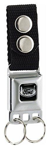 Buckle-Down Ford Seat-Belt Style Keychain (KC-FE) (Seat Belt Buckle Emblem)