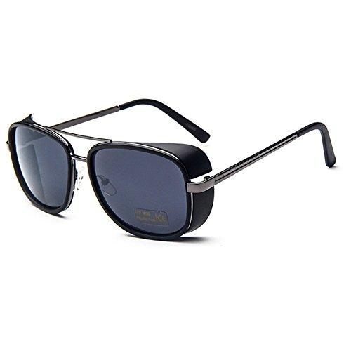 MosierBizne The New Dual-beam Men And Women Iron Man Retro Sunglasses - Sign C9 Up