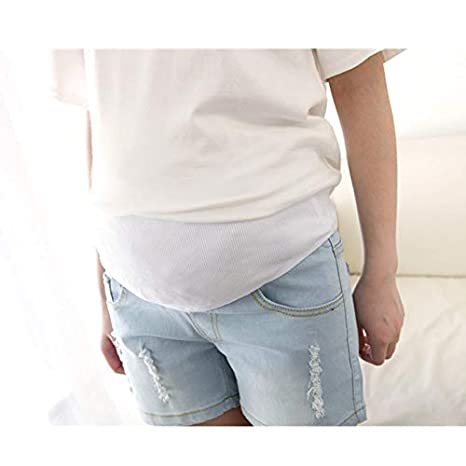 WNuanjun Pantalones Cortos de Color Azul Claro para Mujeres ...