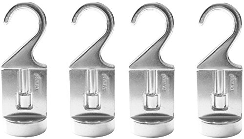 Cooks Essentials Pot (Cooks Standard 02567 Swivel Pot Rack Solid Cast Hooks, Set of 4, Silver)