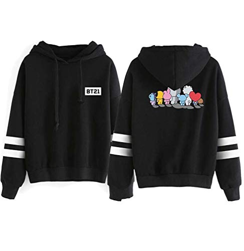Tang Queen TQ Unisex BTS Bangtan Boys BT21 Hoodies Sport Pullover Sweatshirt Outwear