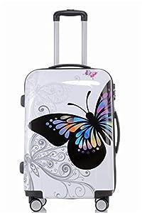 2060 Butterfly M Handgepäck Boardcase Polycarbonat Hartschale Koffer Trolley...