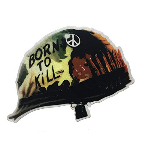 The Tactical Born to Kill Full Metal Jacket Helmet Reflective DECAL/Sticker 3x2