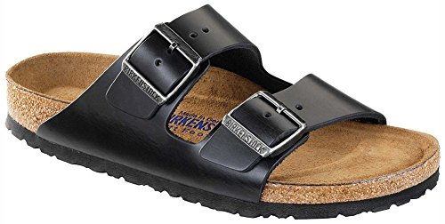 Birkenstock Unisex Arizona Black Amalfi Leather Soft Footbed Sandals - 37 N EU / 6-6.5 2A(N) US