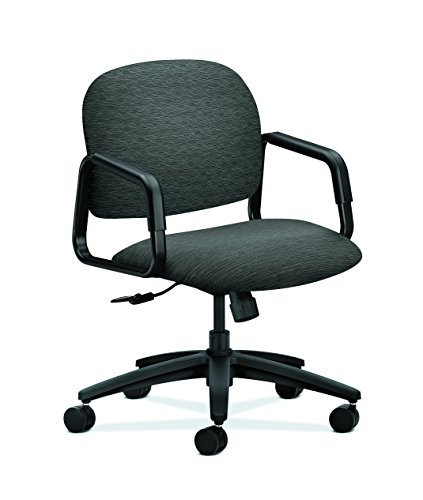 HON H4002.H.AI10.T Fixed Arms Center-Tilt Solutions Seating Mid-Back Chair, Onyx